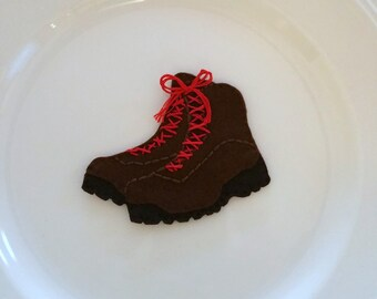 Hiking Boots Felt Christmas Handmade Ornament