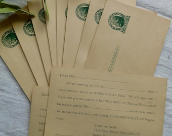 10 - Vintage Robinson Milling Company Test Baking Post Cards 1940's Era