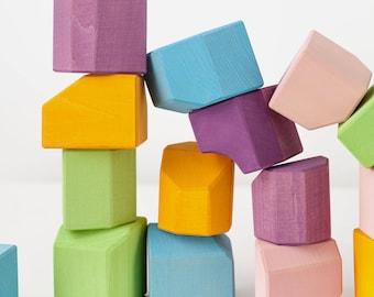Building blocks   Waldorf blocks   Blocks set   Building set   Birthday gift   Toddler toy   Cubes   non-cubes 