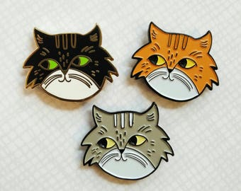 Neighborhood Cat Lady Cat Collector Enamel Pin