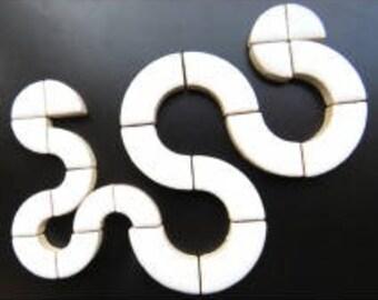 Bullseye Circle Parts - White - 50g / 1.75 oz
