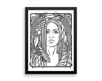 Harvest Goddess Framed poster