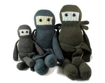 NEW Yuki the Cookie Ninja Knitting Pattern Pdf INSTANT DOWNLOAD