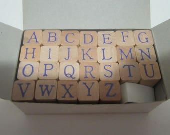 Miniature Alphabet Letter Rubber Stamps