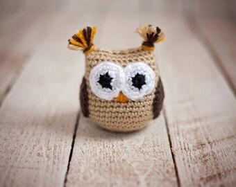 Crochet Stuffed Owl - Hoot the Owl - Amigurumi -  Doll - Girl or Boy - Toys