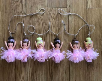 Handmade Felt Ballerina Decorations- Pink - Tutu - Ballet Dancer - Dancer - Ballerina - Garland - Ballet - Nursery Decor