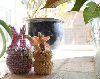 3D Origami Spring Rabbit