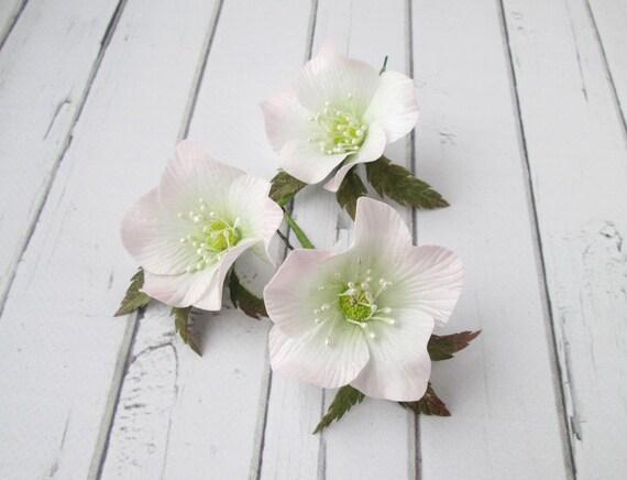 Hochzeit Blume Haarnadel Haar-Clip Braut weiße Blumen