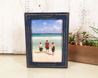 5x7 Photo Picture Frame in Double Cove Style and Color OF YOUR CHOICE - Handmade 5x7 Photo Frame - Rustic Wood Frame 5 x 7 inch