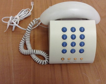 90's vintage Michael Graves white desk telephone