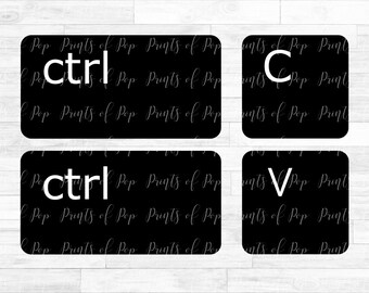Ctrl C, Ctrl V Computer Keyboard Keys SVG DXF PNG Files, Cut File, Digital Download