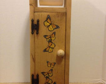 Toilet Paper Holder,Tissue Holder, Toilet tissue holder, Butterfly decor, Butterfly bathroom, Country Decor, Monarch Butterflies, Butterfly