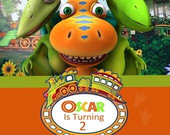 Dinosaur Train Photo Birthday Invitation - DIY Printing - JPEG File