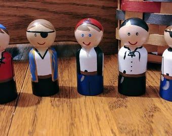 Pirate Peg Dolls Montessori Waldorf Education Dollhouse Play