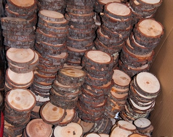 100 Wood Slice Seconds, Discount Woodslices, Assorted Pack of Wood Slices, Tree Slices, Branch Slices, Bulk Wood Slices, Wood Rounds