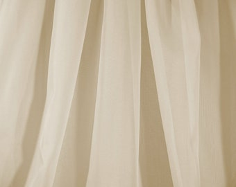 Sheer Voile Fabric Extra Wide in Light Champagne - By The Yard
