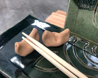 Fortune cookie Chopstick Rests (set of 2)