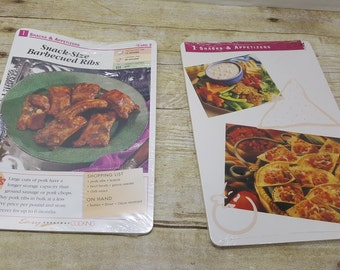 2 Packs of Unopened Recipe Cards,1980s, Easy Everyday Cooking