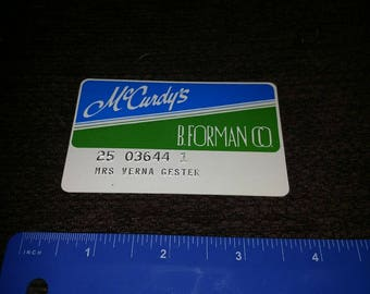 1990's mcurdy's beforeman credit card