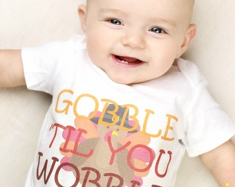 Newborn Thanksgiving Outfit Gobble Til You Wobble Newborn Turkey Outfit Baby Thanksgiving Outfit