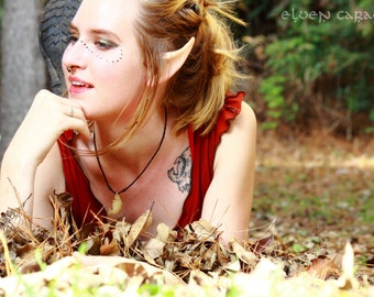 Custom Painted Elf Ears for High Elf Woodland Lord of the Rings Halloween Costumes and Cosplay