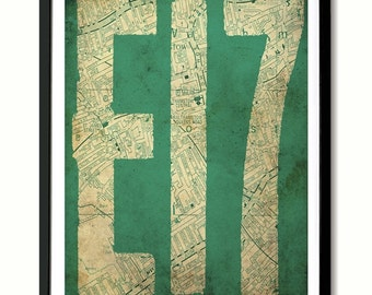 E17 Walthamstow, London Art Print