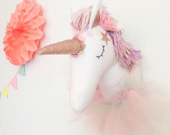Circus Unicorn Wall Mount - Unicorn Room Decor - Unicorn faux Taxidermy