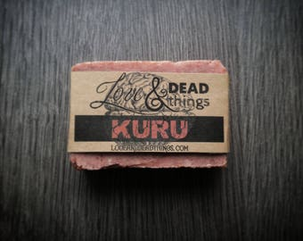 KURU - Handcrafted Soap, Weirdly Scented Soap, Handmade in USA, Prion Disease Inspired Soap, Goth Soap, Soap for Weirdos