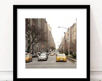 Park Avenue photography, New York City street photography print 12x12, 11x14, Upper East Side Manhattan, NYC decor vertical black & white