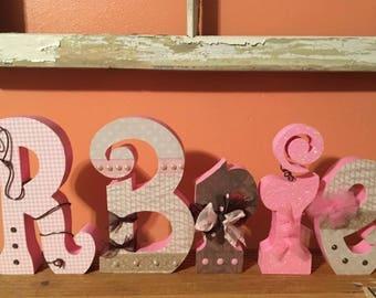 Custom Wood Letters. Baby Nursery Decor. Wedding Decor.