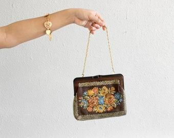 60s Floral Embroidered Handbag