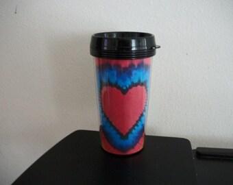 TRAVEL MUG - Tie Dyed Heart