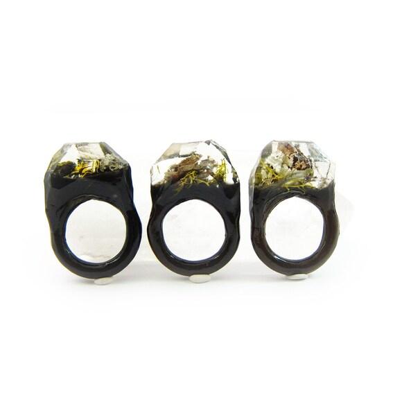 Classic Terrarium Resin Ring