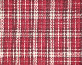 Homespun Material | Cotton Material | Primitive Material | Plaid Material | Quilt Material | Home Decor Material | Sold By The Yard