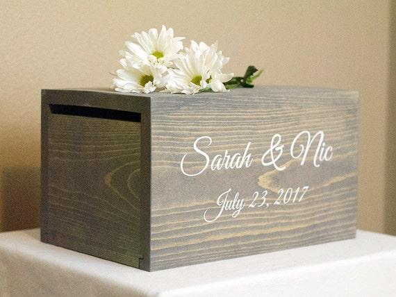 Wedding Gift Box Holder: Wedding Card Holder Wedding Money Box Rustic Card Box