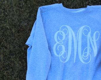 Monogram Sweatshirt; Women's Monogram Sweatshirt: Women's Cut Sweatshirt
