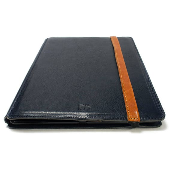 "NEW iPad PRO 10.5"" PORTFOLIO leather case made by genuine Italian leather as protection choose Body and Accent color"
