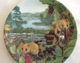 Limited Edition Davenport Plate - 'Dormice in the Hedgerow'.