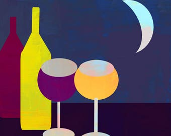 Wine by moon light