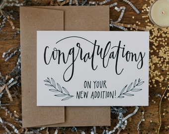 """New Baby 4""""x6"""" Greeting Card - Congratulations"""