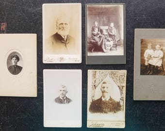 Old Photos Lot of 6 Vintage Photographs Snapshots Black/White Antique