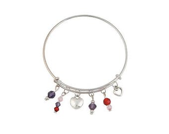 Valentine's Day Expandable Bangle Bracelet