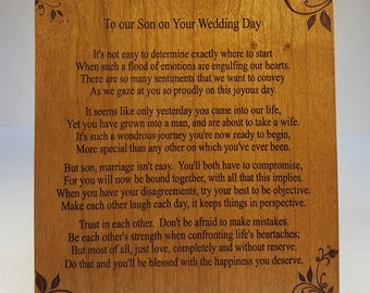 Groom Plaque, Engraved Plaque