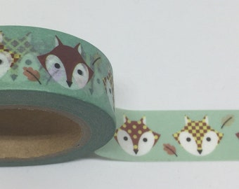 Multi-pattern Fox Head Washi Tape