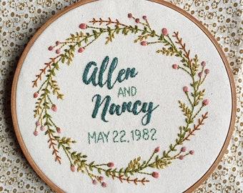 Glencrest Wedding Embroidery Hoop