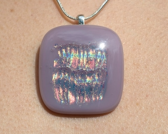 purple dichroic glass pendant