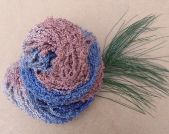 Hand Dyed Bulky Yarn - BFL and Masham Chunky Loop Yarn - 100g - Poodle - British Yarn