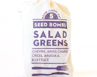 Salad Greens Seed Bombs - Indoor or Outdoor Gardening