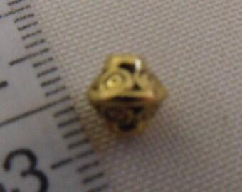 metal bead, golden bead, pearl 8mm, lot of 10 beads