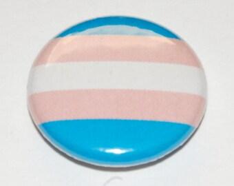Transgender Pride Flag Button Badge 25mm / 1 inch Trans LGBT